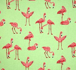 Cheerful Flamingos Lime