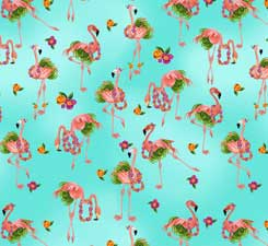 Flamingo  Hula Fabric
