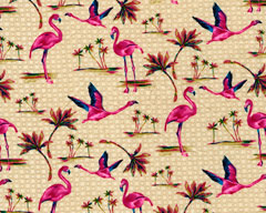 Flamingo - Rayon Challis Fabric