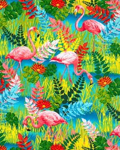 Flamingo Savanna Fabric