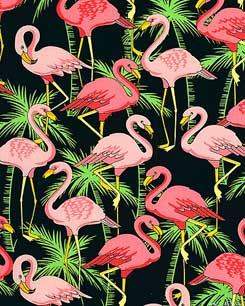Flamingo Pool Bahama Blue Fabric