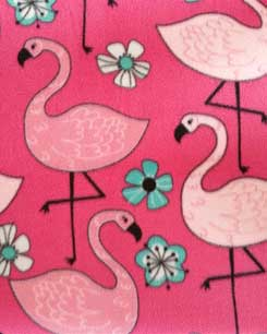 Flamingos & Flowers Fleece!
