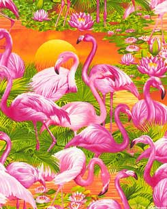 Flamingos At Dawn