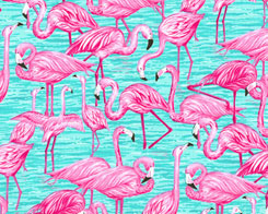Flock of Flamingos - Candy Pink, Jade