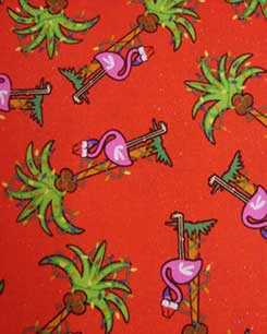 Flamingo - Christmas party Fabric