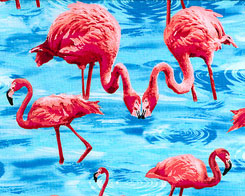 Large Flock of Flamingos - Azure